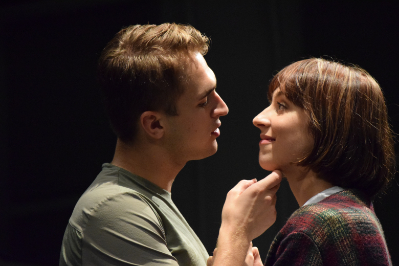 In rehearsal for CABARET (Max) with Logan Floyd (Sally) / 2018