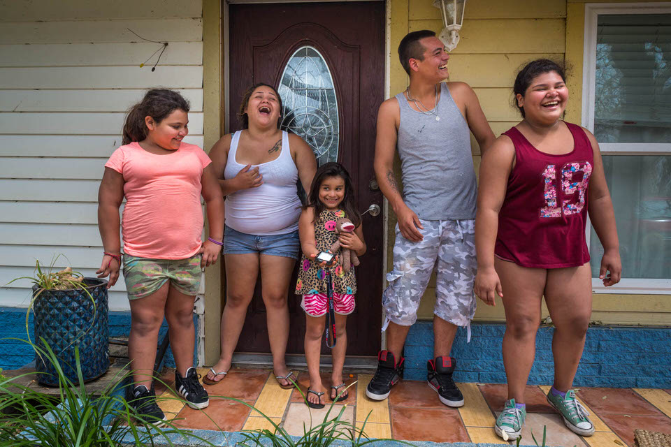 The moment we gave this family in Rockport Texas their light was such a joyful and fun moment!