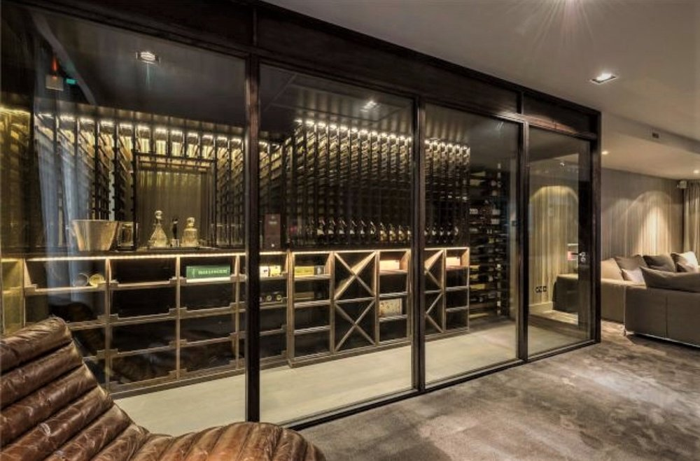 Beautiful  Wine Room , just needs a collection of wine...