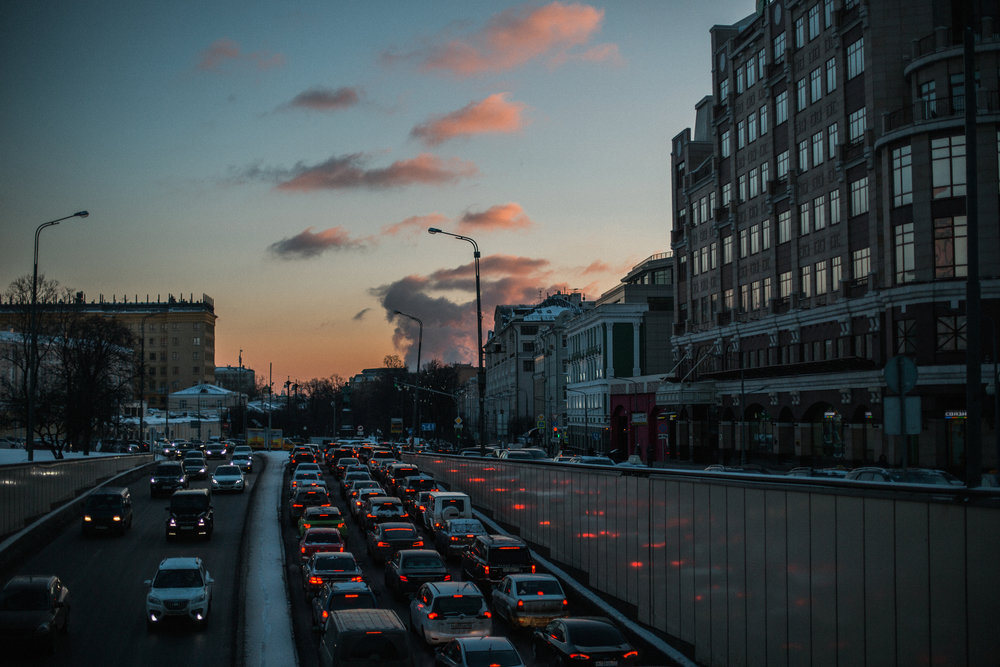 Moscow traffic 1/10, Moscow skies 10/10