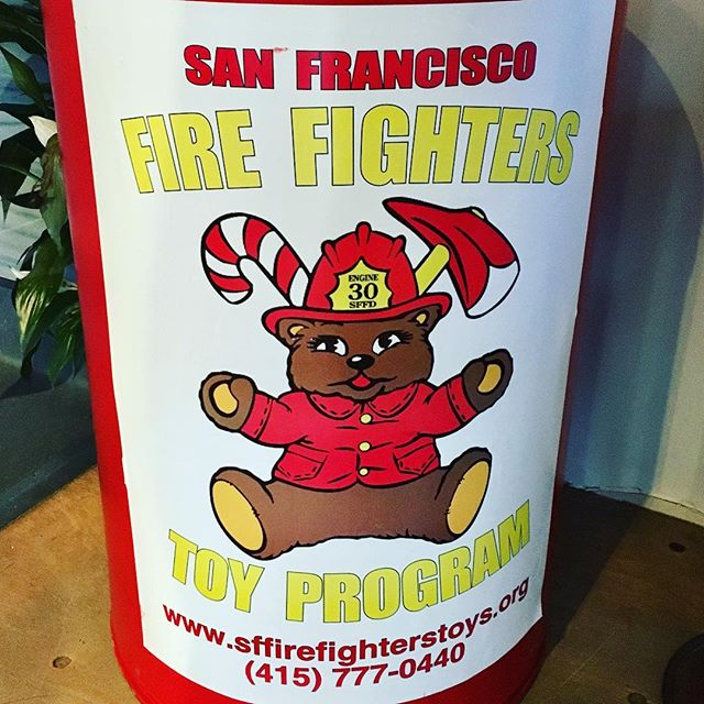 Help @merseasf support @SFFD #toydrive for #christmas  #sffd #giving #sharing #caring www.sffirefighterstoys.org #firedepartment #mersea