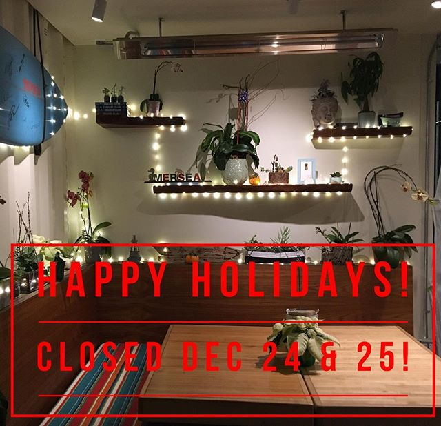 NOTE: CLOSED Dec 24 & 25! From our family to yours... HAPPY HOLIDAYS! #merseasf #happyholidays #happyholidays2018 #christmas #holidays #tistheseason #treasureisland
