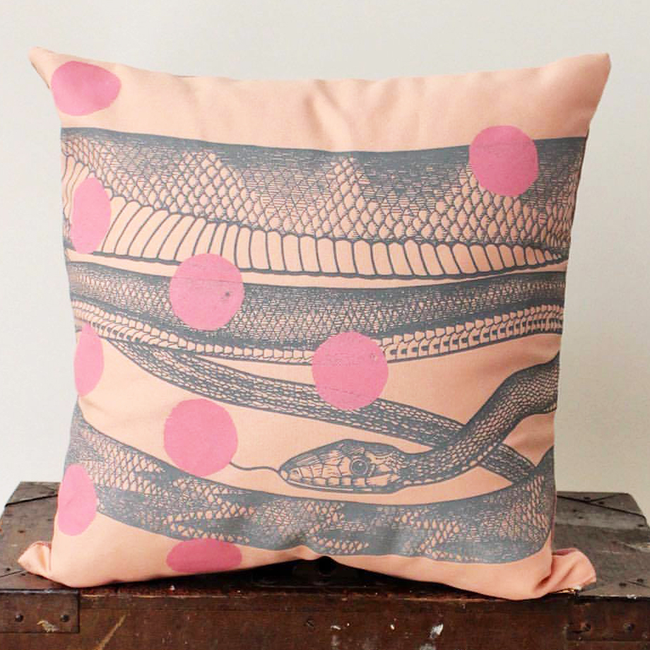 Snake Design on Pillow