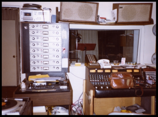 Older photo (probably around 1980) of Studio B with Scully 8 track and KLH speakers. On the extreme left is the Technics SP-15 turntable, a real beauty. The Otaris and MDM speakers were a huge upgrade.