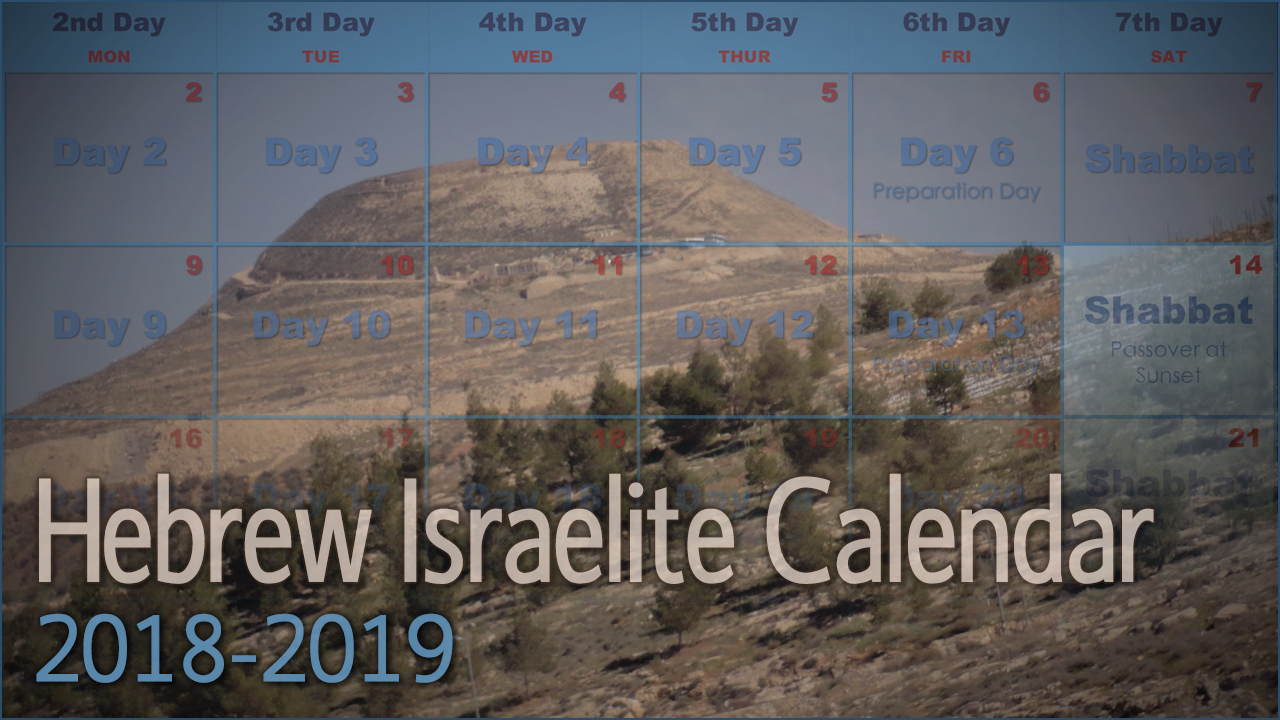 Hebrew Israelite Calendar (2018-2019) — Kingdom Preppers