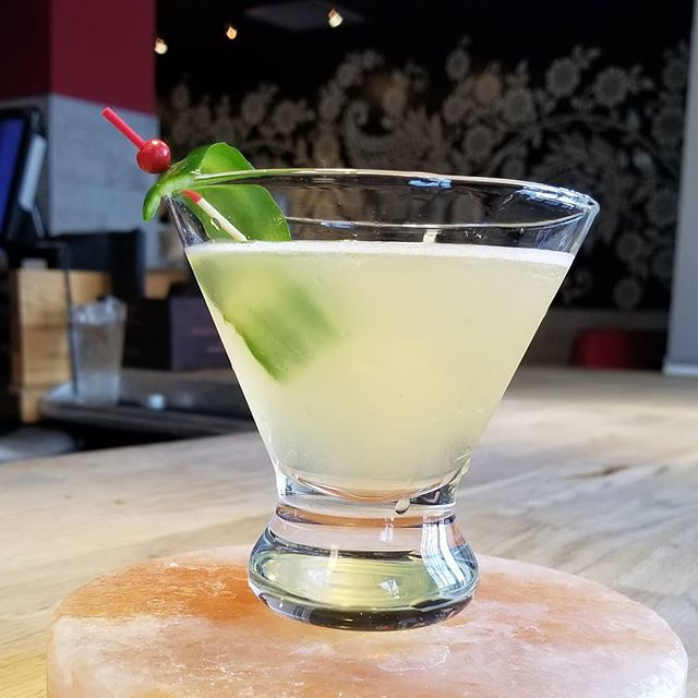 Stop by and let us know what you think of our newest cocktail!! It's a little bit spicy & a little bit sweet but completely delicious! 📷 : Chili-infused Vodka Martini  #indiawesthartford