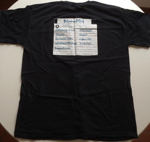 BSides 2011 Shirt Back