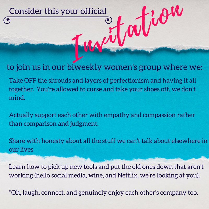 Biweekly women's therapy group to build connection with empathy and not judgment.