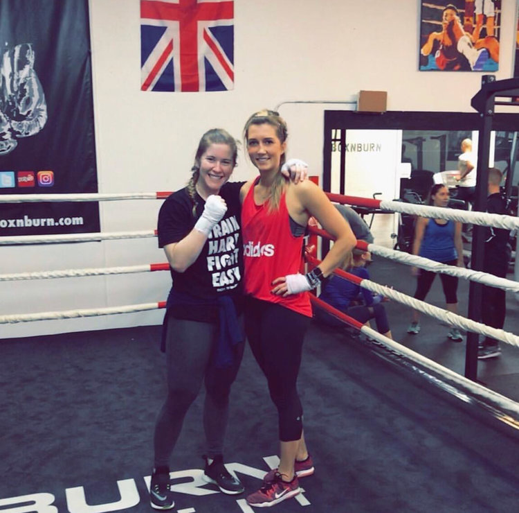 Maggie & Kayla- Certified Boxing Trainers through the world's #1 boxing certification, Box N Burn Academy.