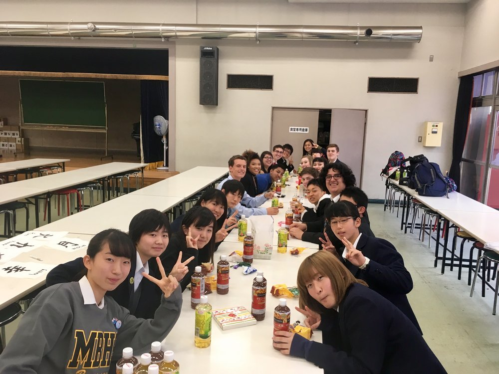 Having lunch at Kanazawa High