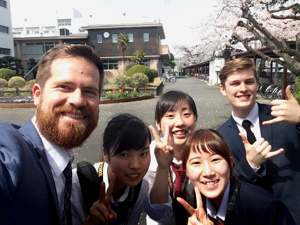New friends at Kanazawa High School