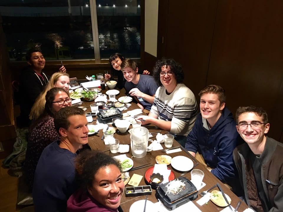 First meal in Yokohama