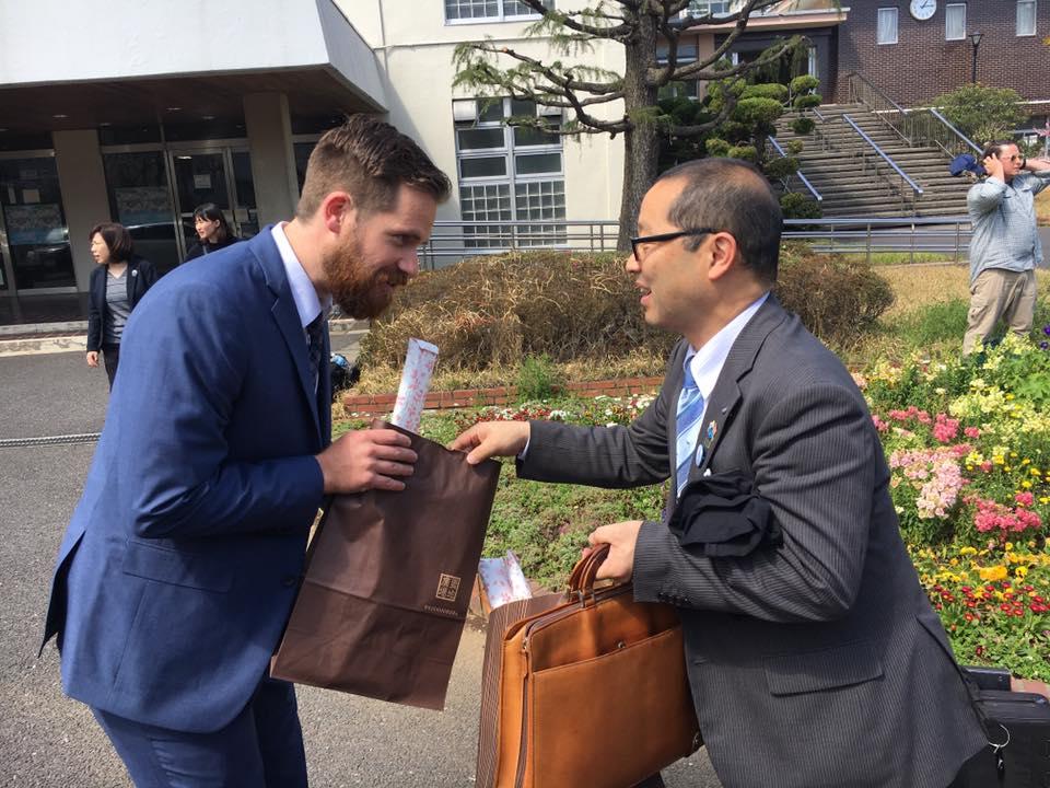 Mr. B and Kanzawa High Principal
