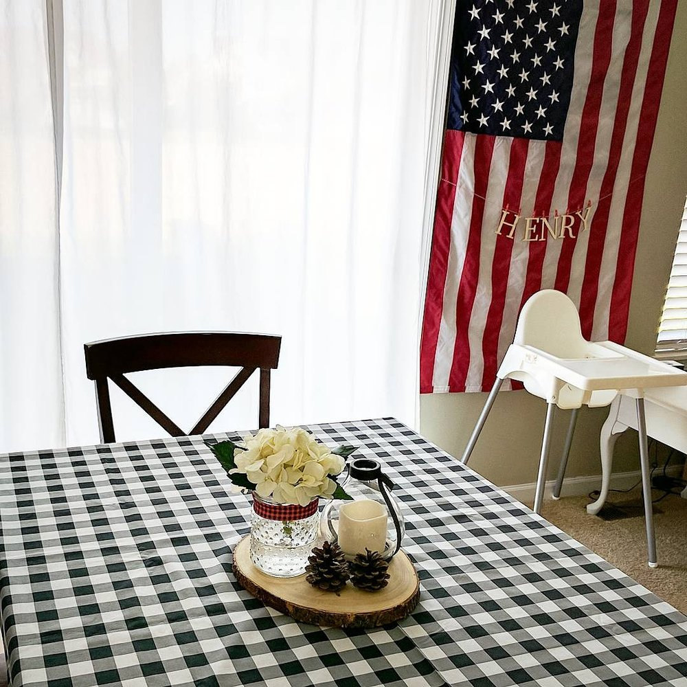 (John's contribution to the decorating was the American flag behind Henry's chair ;))