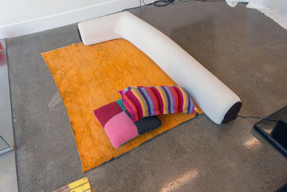 Support material, soft furnishings,  Iteration 4, installation view, 2016