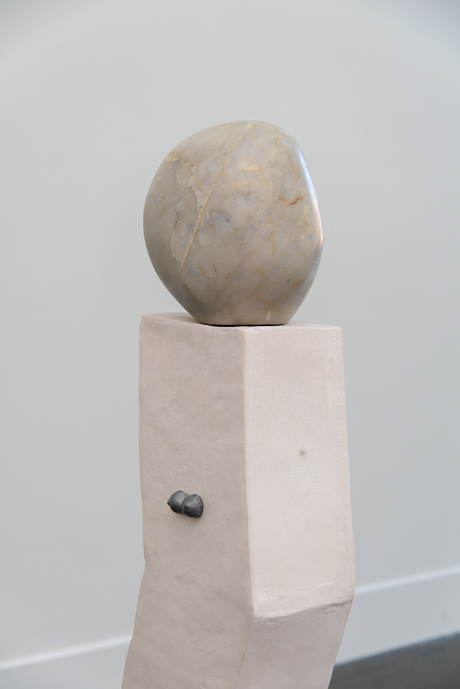 Sanné Mestrom,  Dear Claire, Dear Clive , 2015, Ceramic (ft. Clive Murray White's Carrara marble and Claire Lambe's cast lead), 105 x 100 x 100cm