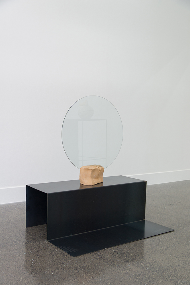 Sanné Mestrom,  Dear Steph , 2015, Ceramic (ft. Stephanie Shield's glass), 109 x 100 x 160cm