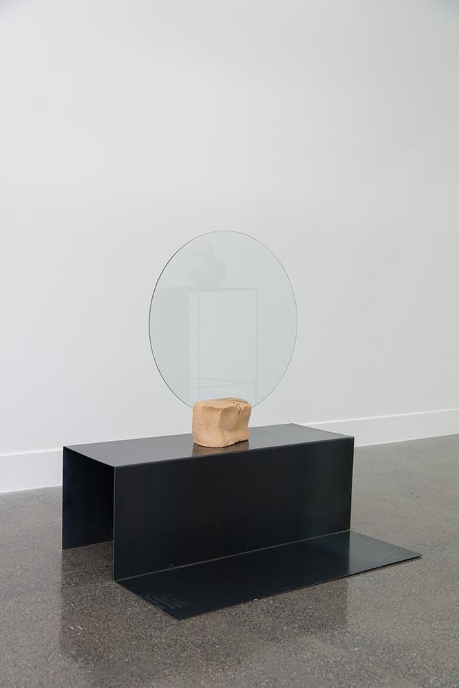 Sanné Mestrom,  Dear Steph  , 2015, Ceramic (ft. Stephanie Shield's glass), 109 x 100 x 160cm