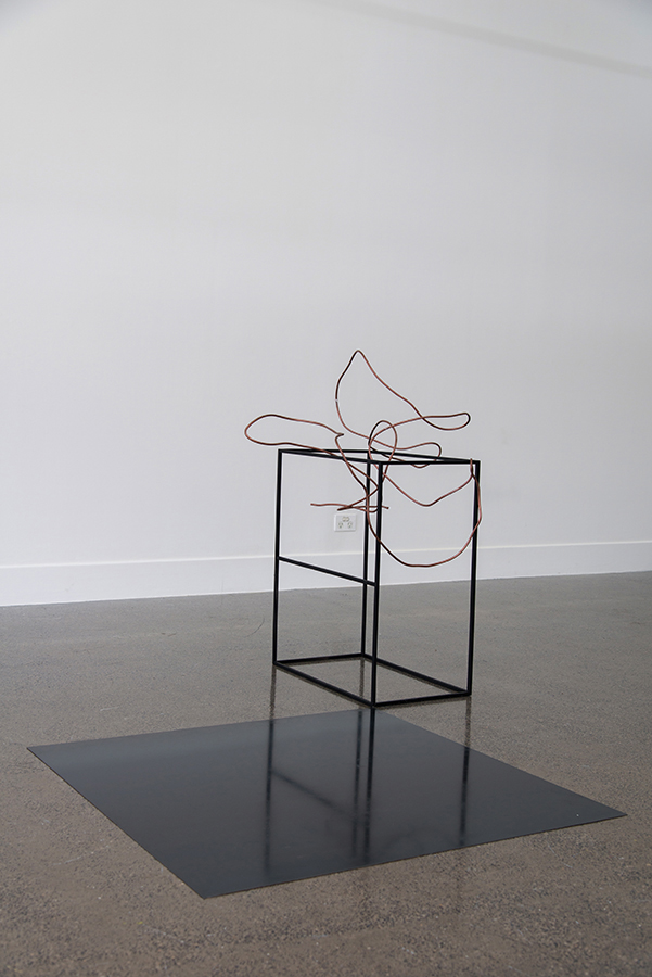 Sanné Mestrom,  Dear Mira , 2015, Ceramic (ft. Mira Gojak's copper pipe), 120 x 135 x 160cm