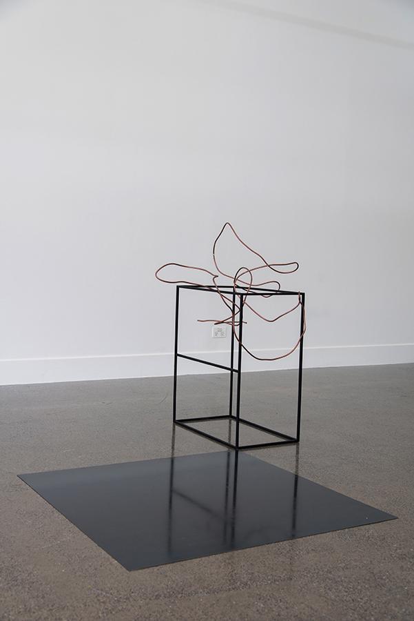 Sanné Mestrom,  Dear Mira  , 2015, Ceramic (ft. Mira Gojak's copper pipe), 120 x 135 x 160cm
