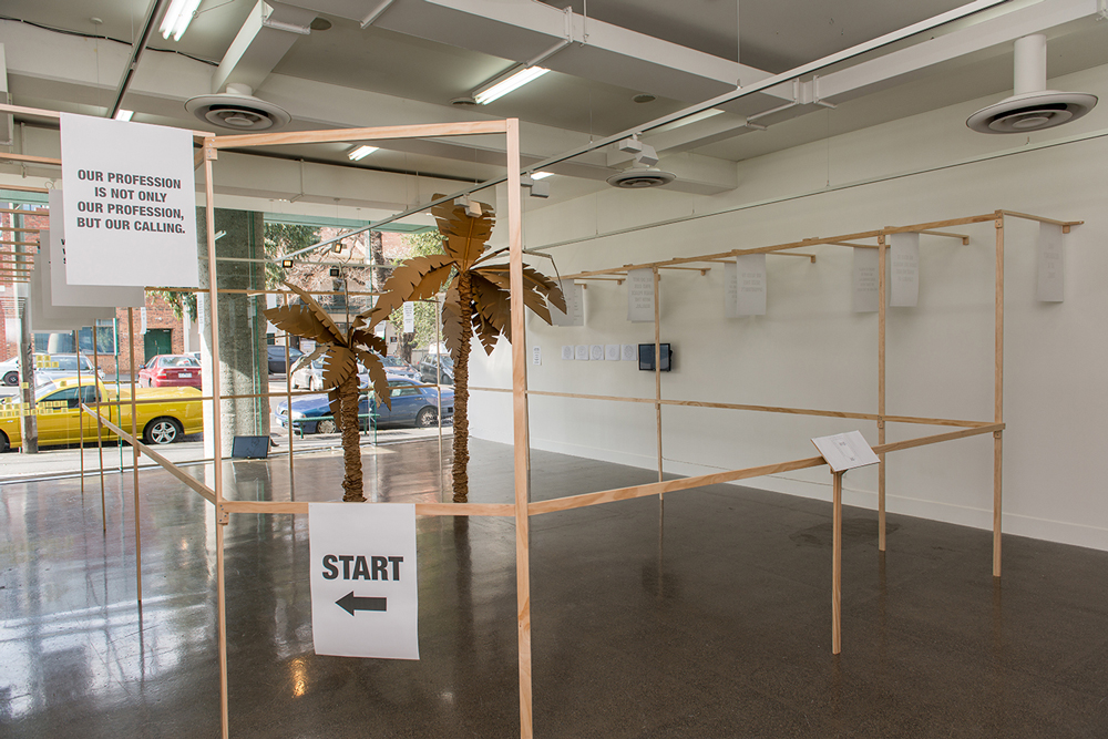 OELLINGER/RAINER,  The Perfect Holiday  , 2016, Installation view