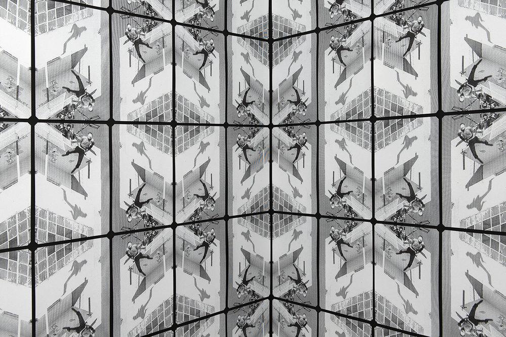 Neil Emmerson,  (Flight)  , 2016, screen-print on black card