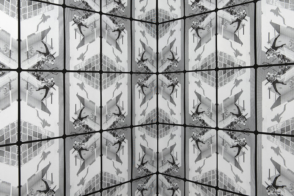 Neil Emmerson,(Flight), 2016, screen-print on black card