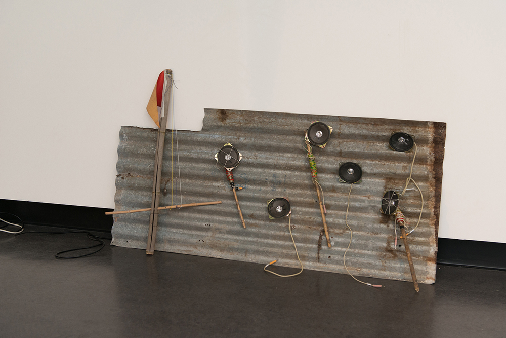 Tom Sullivan,  Dual Environments  , 2016, Sound installation constructed from found materials, Dimensions variable