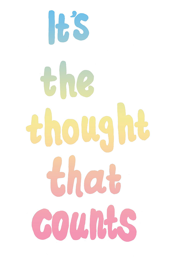 Dani Hakim,  It's the thought that counts  , Screen print on paper, 42 x 30 cm, 2013