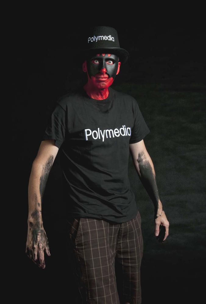 Michael Florrimell,  Polymedia man  , digital pigment print, 47 x 31 cm, 2011