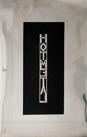 Joel Gailer,  Hot Metal  , Relief etching on acetate, 46 x 30 cm, 2011