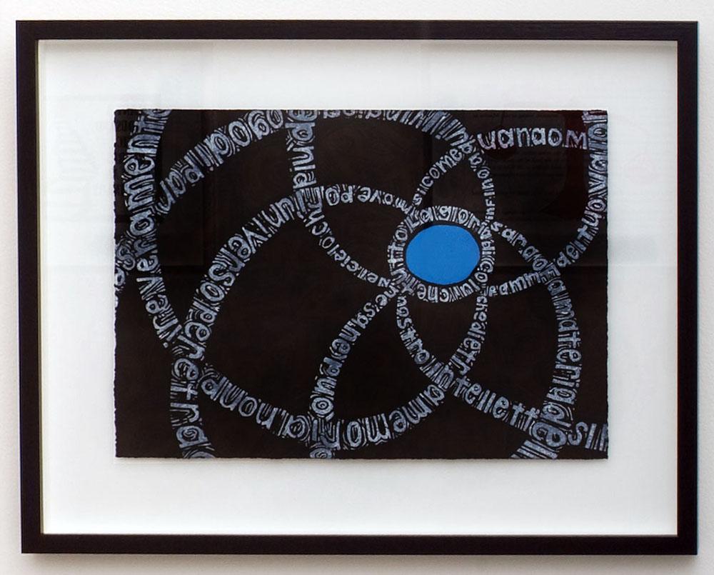 Angela Cavalieri,  Crociera  , Linocut on paper, 38 x 28 cm, 2008
