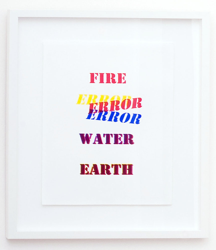 Alex Selenitsch,   The four elements  , Screen print, 38 x 28 cm, 2008
