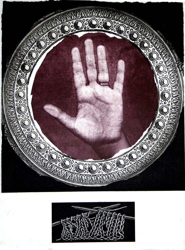 Antonietta Covino-Beehre,  Life Line   , Photo-etching, 38 x 28.5 cm, 2007