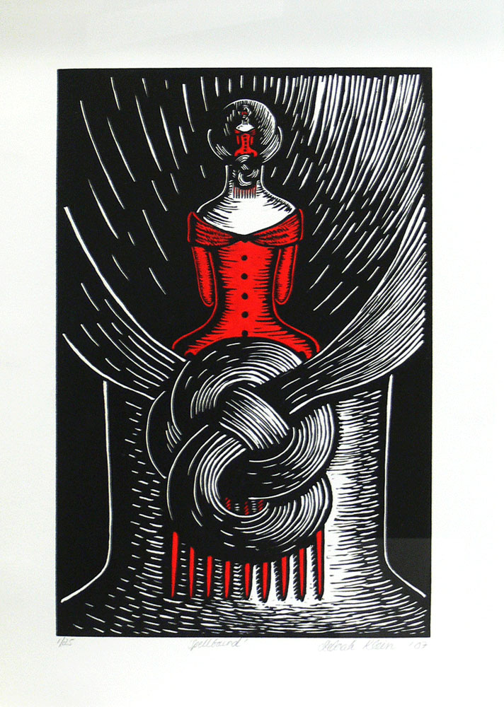 Deborah Klein,Spellbound,200,linoleum cut,38 x 28 cm  Please note that this edition is sold out and this print is not available for purchase.
