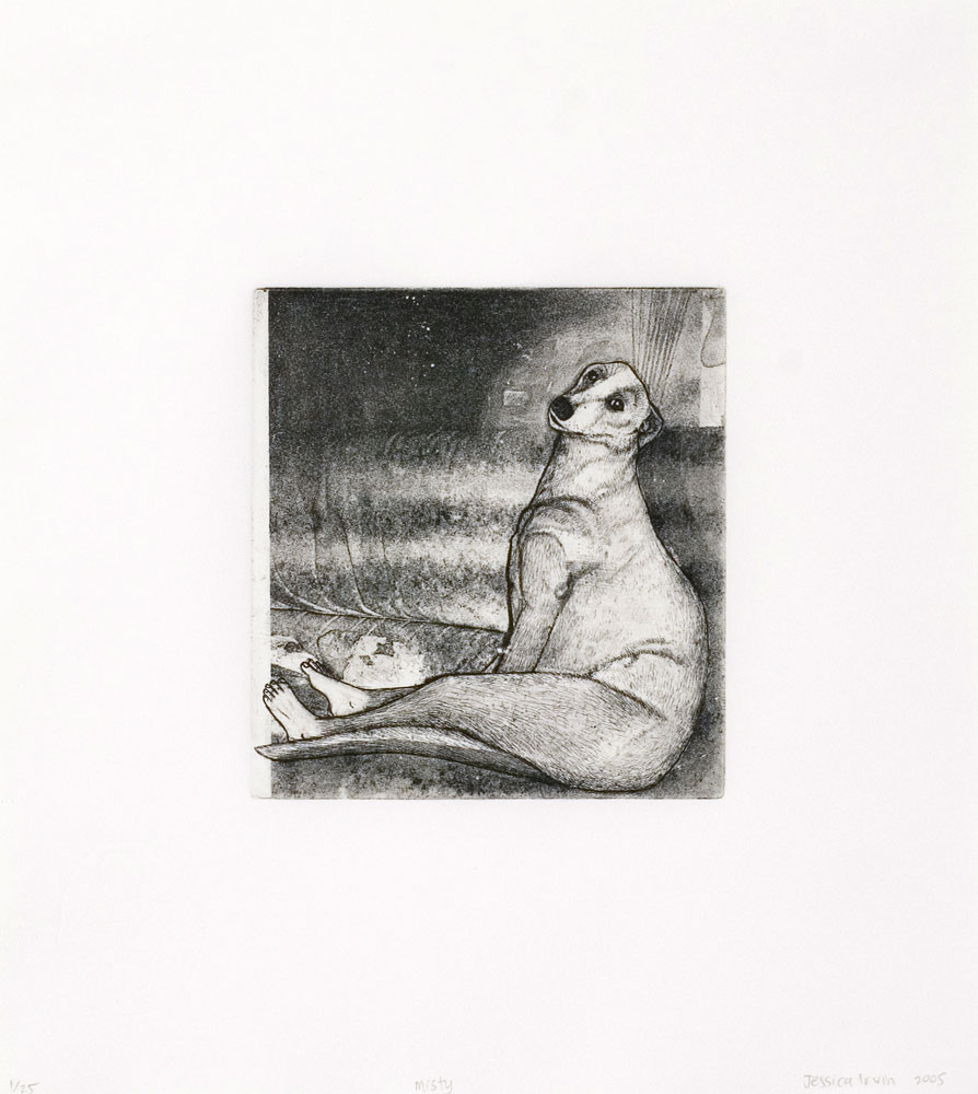Jessica Irvin,   Misty  , Etching and aquatint, 31.5 x 28 cm, 2005