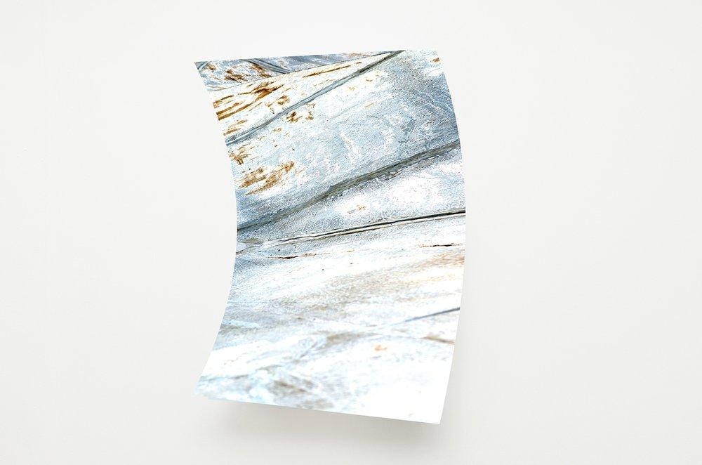 Rui Mizuki,  untitled #SK8 park , 2016, inkjet-print, aluminum, roll pressing process, 730 x 1040 x 180mm