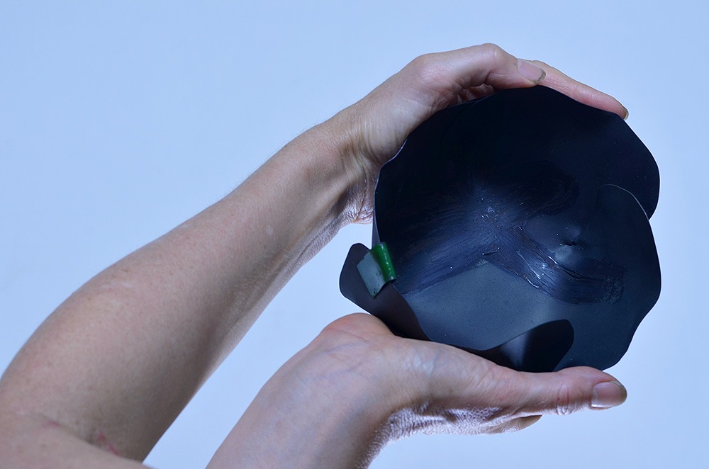 Sue Buchanan,  Looking Bowl #2,  2013, Mild Steel, enamel