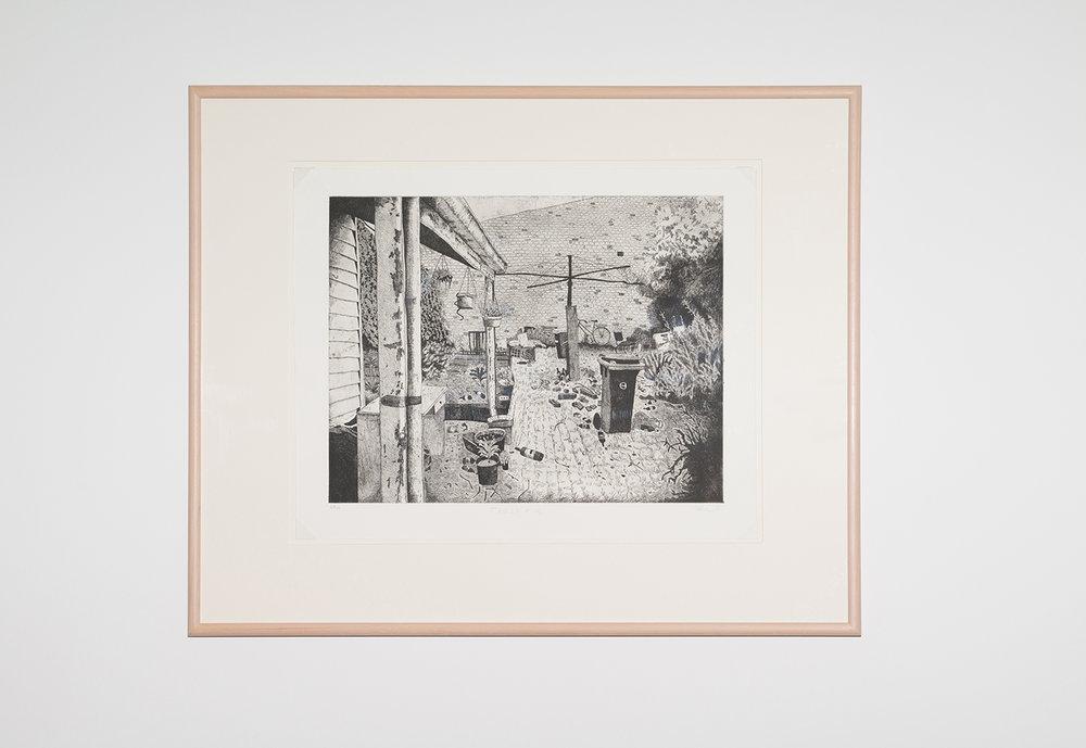 Carolyn Hawkins  Trashed,  2015 Etching, 69 x 54cm Courtesy of Australian Print Workshop