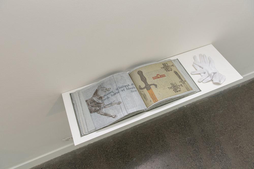 Jazmina Cininas  WHO'S AFRAID OF THE BIG BAD WOLF?  1996 Artist book, 25.2 x 33.2 x 2.7 cm Courtesy of Australian Print Workshop