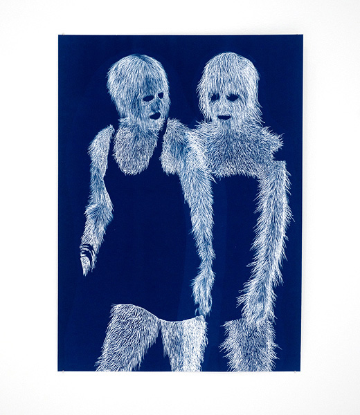 Fashion Plate 10 , 2011 Cyanotype on paper 36 x 27 cm