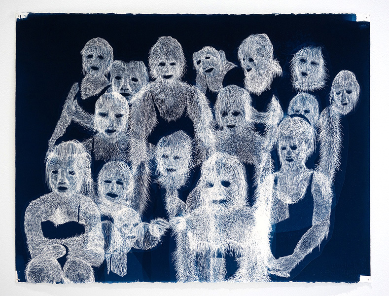 Erik  Mark Sandberg,  The Grove , 2010, Cyanotype, 13.75 x 10 in