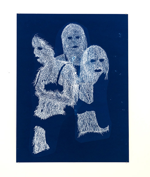 Erik  Mark Sandberg  Fashion Plate 1 , 2011 Cyanotype on paper 36 x 27 cm