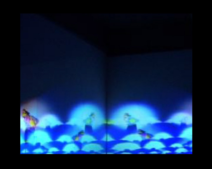 Marco Cher-Gibard and Rosalind Hall,  Blue Mirror in West Space,  2009, Live Performance