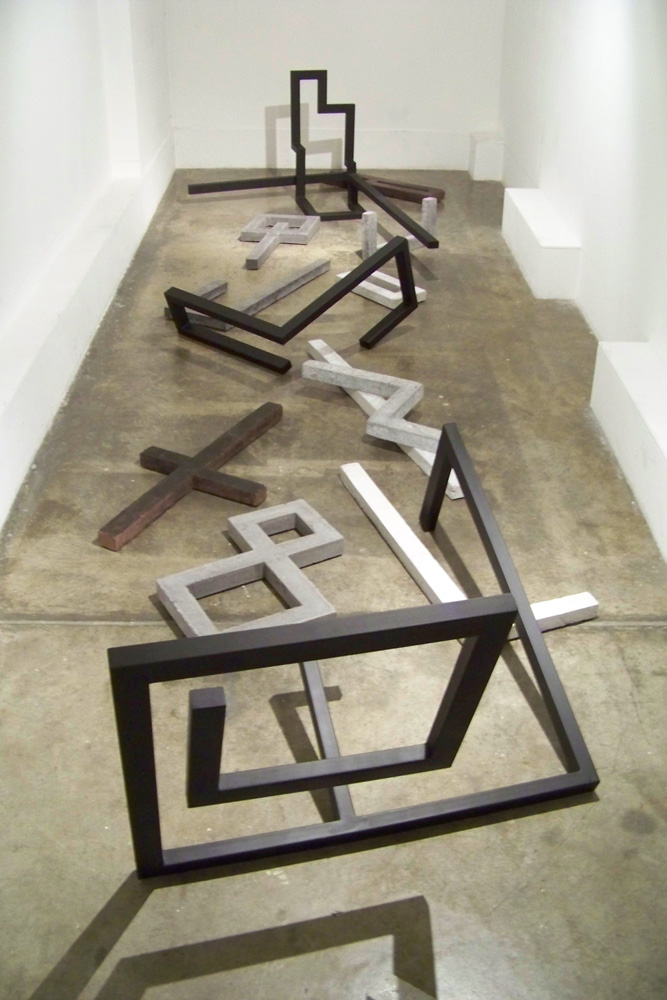 Caleb Shea,  The Pit,  2009, Concrete, steel and epoxy enamel, dimensions variable