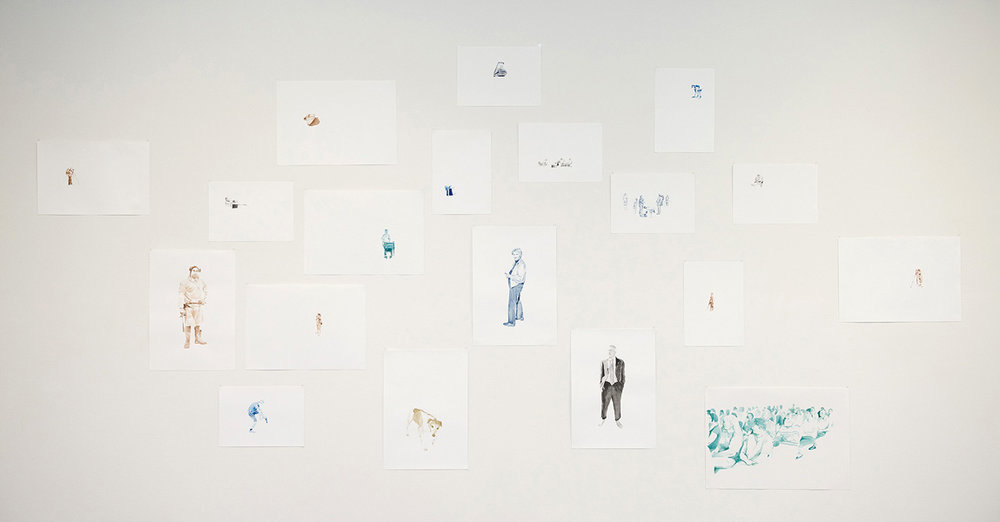 Anneke Muijlwijk,  The Plans Are Not Yet Final,  2010, Water colour