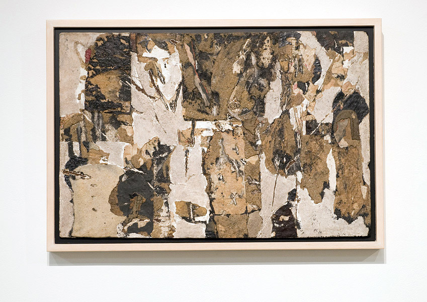 Peter Clarke,  Wall Spaces Wall Memories,  1964, Mixed Media on hardboard, 38.5 cm x 59 cm