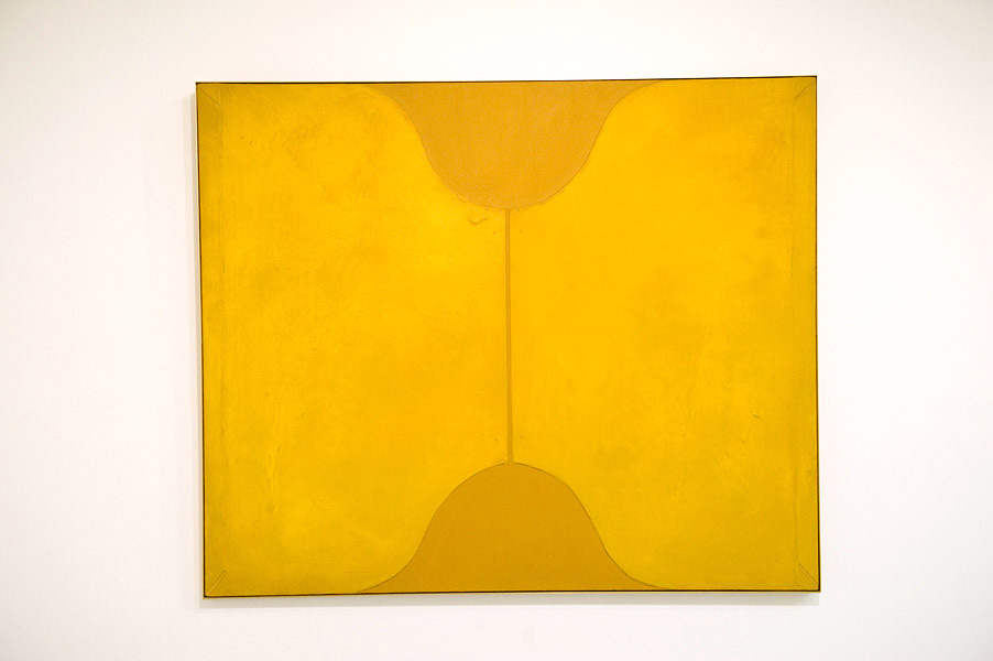 Peter Clarke,  Yellow Opening,  1967, Mixed Media on linen, 153.5 cm x 183.5 cm