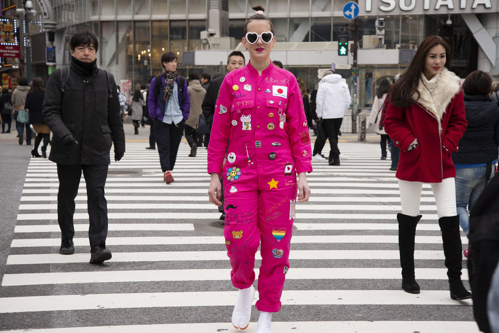 Kate Just,  Feminist Fan in Japan Uniform (Suited for Action),  2016, dgital C Type Print, 80 x 60 cm ig