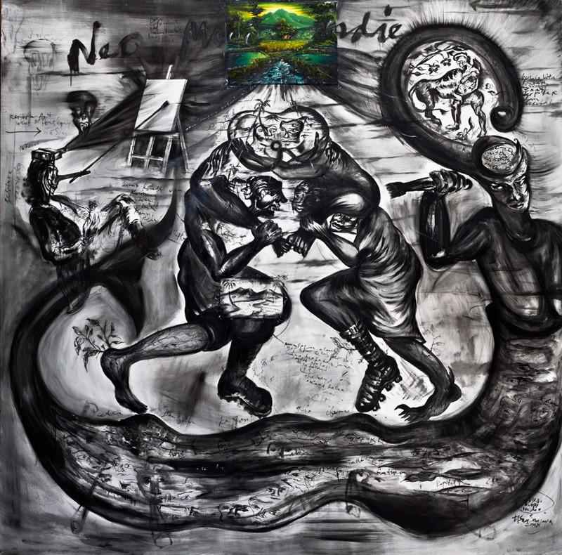 Tisna Sanjaya,  Neomooiindie , 2012, oil on canvas, 200 x 200 cm